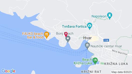 Amfora Hvar Grand Beach Resort Map