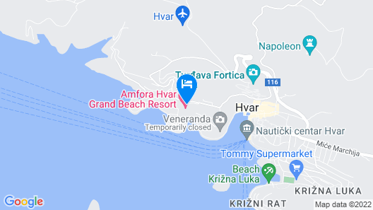 Amfora Hvar Grand Beach Resort Map