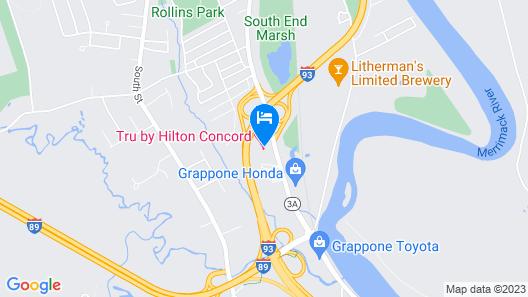 Tru by Hilton Concord Map