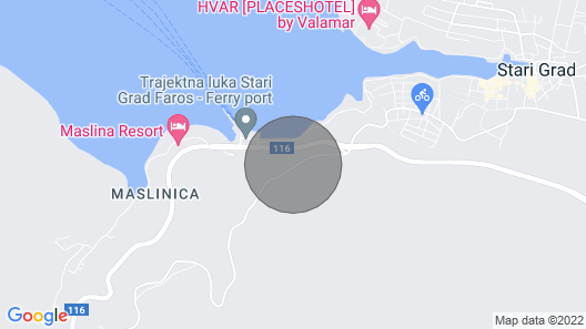 3 Bedroom Accommodation in Stari Grad Map