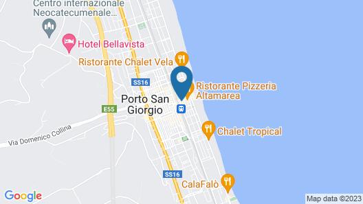 Hotel Gabbiano Map