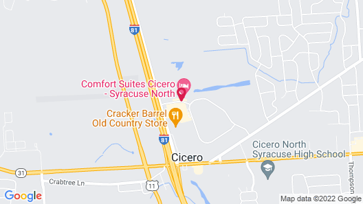 Comfort Suites Cicero - Syracuse North Map