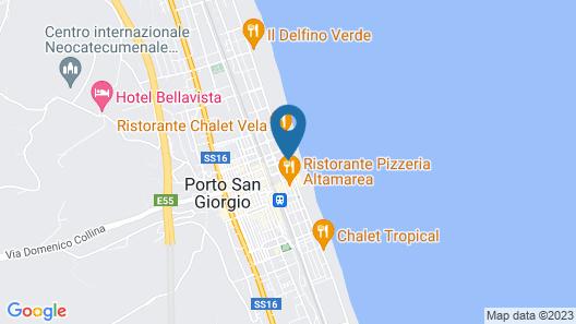 Hotel Rosa Meublè Map
