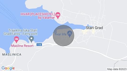 1 Bedroom Accommodation in Stari Grad Map