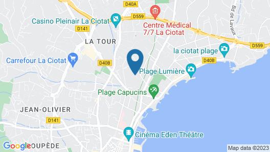 Chambre d'hôte Plages à 300 mètres Map