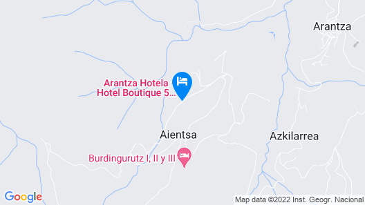 Rusticae Arantza Hotela Map