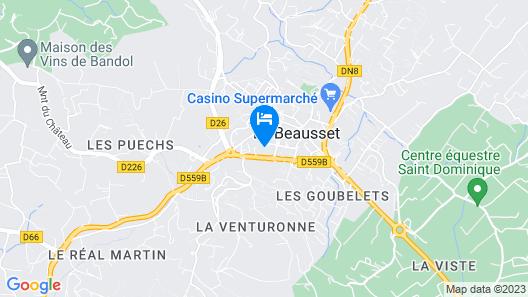 Hôtel La Cauquière Map