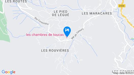 Les chambres de Toucas Map