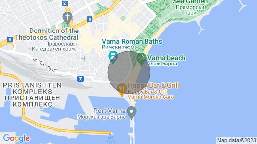 Beachfront ⭐️ Top Spot ⭐️ Sea_view/port/garden Map