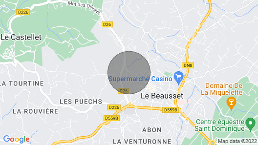 2 Bedroom Accommodation in Le Beausset Map