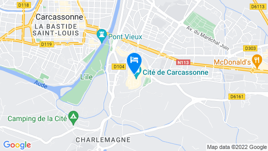 Best Western Le Donjon Map