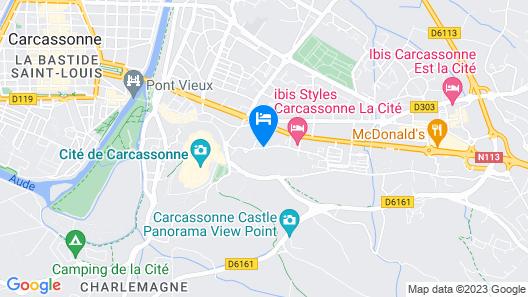 Mercure Carcassonne la Cite Hotel Map