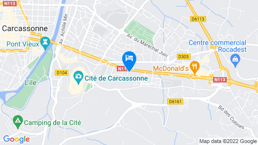 Cerise Carcassonne Sud Map