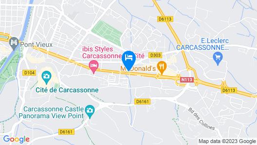ibis Budget Carcassonne-La Cité Map