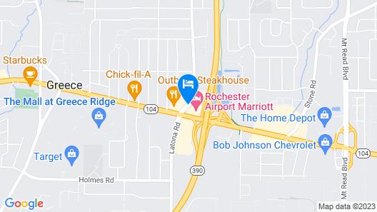 Rochester Airport Marriott Map