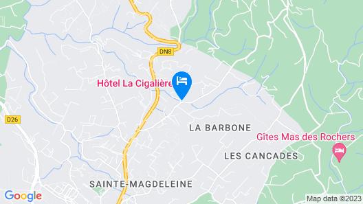 Hotel la Cigalière Map