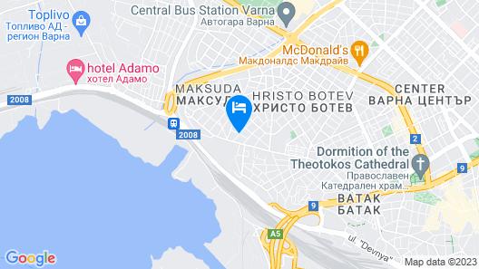 FM Economy 2-BDR Apartment - Varna Bay Map