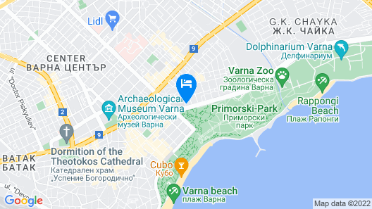 Elmina Apartment by the Sea Park - Holiday in Varna, Bulgaria Map
