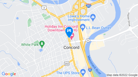 Holiday Inn Concord Downtown Map
