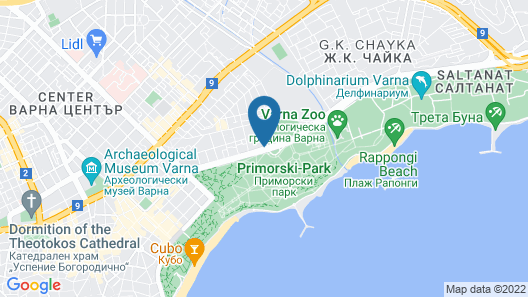 Rosslyn Dimyat Hotel Varna Map
