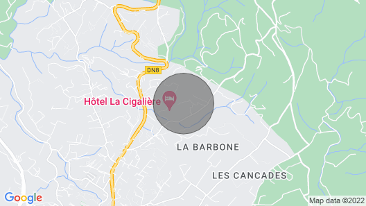 La daby, four uniquely designed french holiday cottages with pool. Map