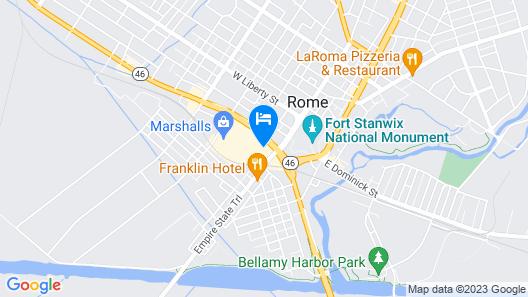 Quality Inn Rome- Verona Map