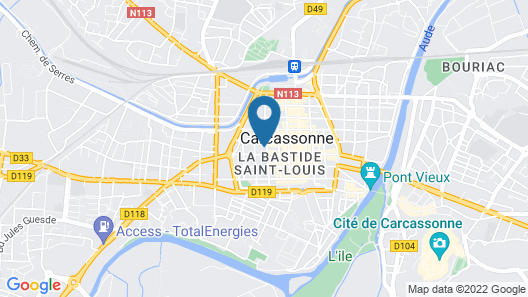 Lovely Little Apartment in Downtown of Carcassonne Map