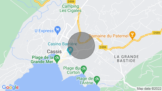Apartment in Residence, sea View and Cap Canaille Map