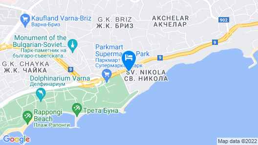 Varna Inn sea park apartments - The best choice in Varna!Quality accommodations Map