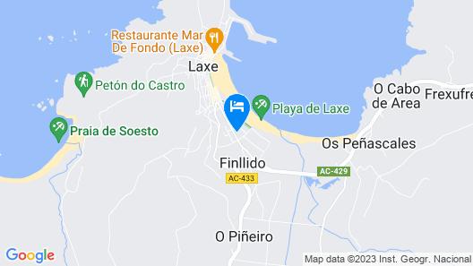Playa de Laxe Map