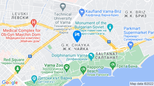 Cosy apartment near Varna Sea Garden Map