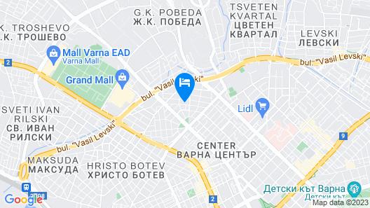 FM Premium 1-BDR Apartment with Terrace - Central Varna Map