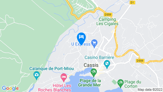 Cassis Calanques 90m2 View and Exceptional Situation, sea 5 Mins Walk, Parking Map
