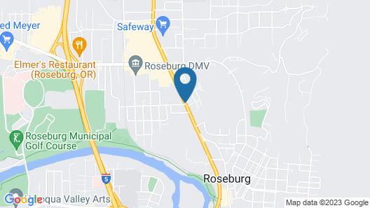 Roseburg Inn Map