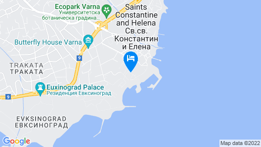 Hotel Lebed - All Inclusive Map