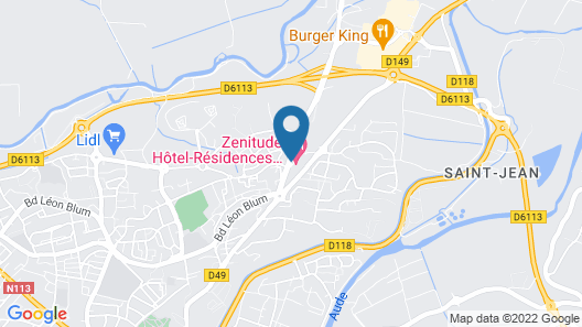 Zenitude Hôtel-Résidences Carcassonne  Map