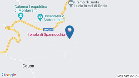 Tenuta di Spannocchia Map