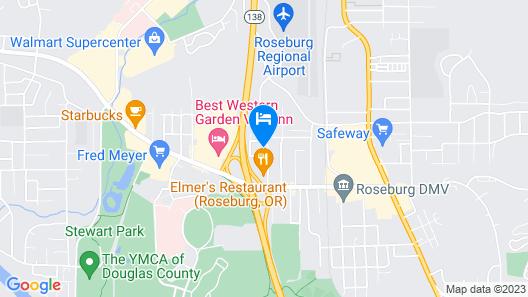 Hampton Inn & Suites Roseburg Map