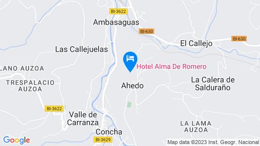 Hotel Alma de Romero Map