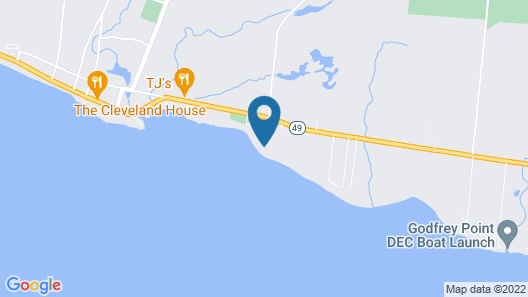 Beach, Dock, Deck, Amazing Views, Waterfront Cottage With Central Air! Map