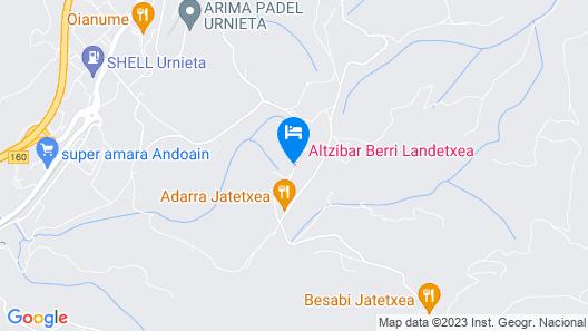 Casa Rural Altzibar-Berri Map