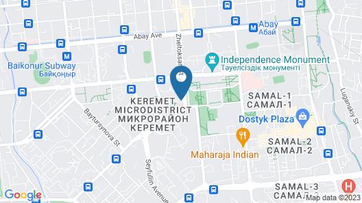 InterContinental Almaty, an IHG Hotel Map
