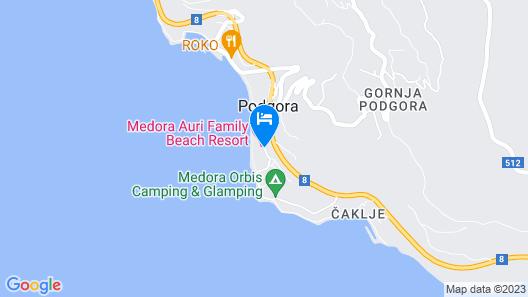 Medora Auri Family Beach Hotel Map
