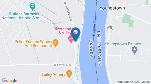 Riverbend Inn and Vineyard Map