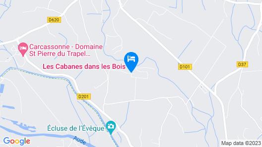 Hotel Les Cabanes Dans Les Bois Map