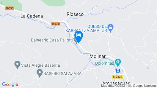 Balneario Casa Pallotti Map