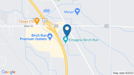 Hampton Inn Birch Run/Frankenmuth Map