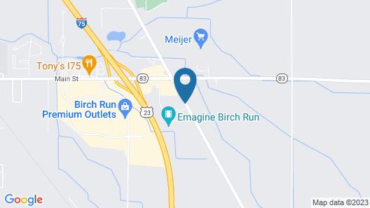 Holiday Inn Express Birch Run - Frankenmuth Area Map