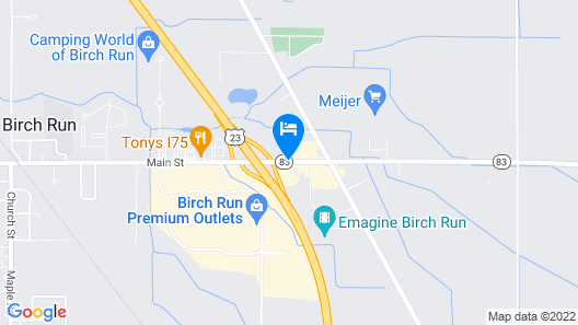 Best Western Plus of Birch Run/Frankenmuth Map