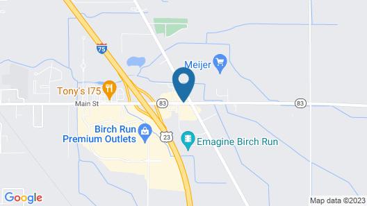 Americas Best Value Inn Birch Run Map